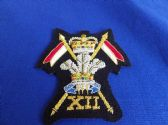 12th ( PRINCE OF WALES'S ) ROYAL LANCERS BLAZER BADGE